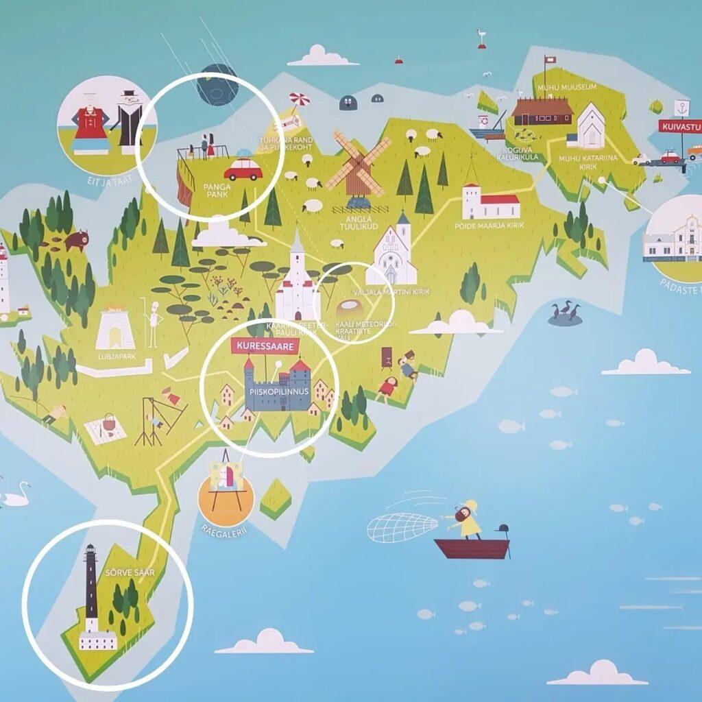 Saaremaa mapa